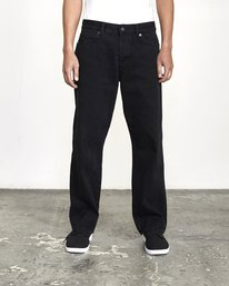 0 Baker RVCA - Relaxed Fit Jeans for Men Black U1PNVARVF0 RVCA