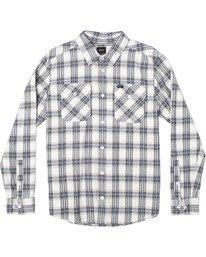 0 Thatll Work Flannel - Long Sleeve Flannel Shirt for Men White U1SHRSRVF0 RVCA