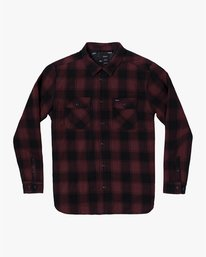 0 Replacement# - Flannel Shirt for Men Red U1SHVCRVF0 RVCA
