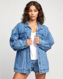 0 Stacey Rozich Lounger Denim - Veste en jean pour Femme Bleu U3JKRARVF0 RVCA