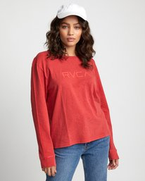 0 Big RVCA - Long Sleeve T-Shirt for Women Red U3LSRARVF0 RVCA