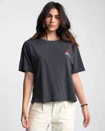 0 Petite Rose - T-Shirt for Women Black U3SSRBRVF0 RVCA