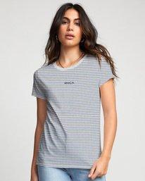 0 Ruff Stripe - T-Shirt for Women White U3SSRCRVF0 RVCA