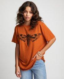 0 Luna Moth - T-Shirt for Women Orange U3SSRKRVF0 RVCA