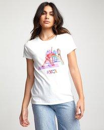 0 Matt Furie Rainbow Yoga - T-Shirt for Women White U3SSRMRVF0 RVCA
