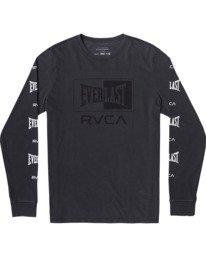 0 Everlast Box - Long Sleeve T-Shirt for Men Black U4LSEARVF0 RVCA