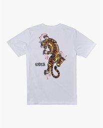 0 Tiger Krak - T-shirt pour Homme Blanc U4SSMDRVF0 RVCA