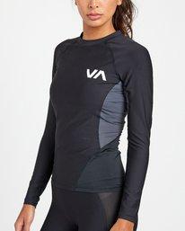 4 VA Sport - Haut de compression manches longues pour Femme Noir U4TPWDRVF0 RVCA