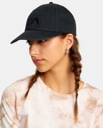 2 VA Baseball Hat Black UVJHA00105 RVCA