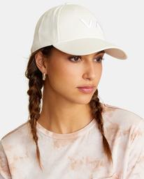 3 VA Baseball Hat White UVJHA00105 RVCA