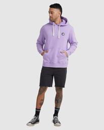 4 Latitude Pullover Hoodie Purple UVYFT00137 RVCA