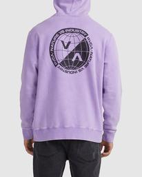 2 Latitude Pullover Hoodie Purple UVYFT00137 RVCA