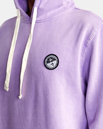 3 Latitude Pullover Hoodie Purple UVYFT00137 RVCA
