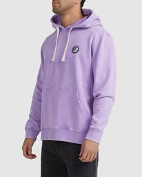 1 Latitude Pullover Hoodie Purple UVYFT00137 RVCA