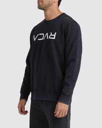 1 Flipped RVCA Crewneck Sweatshirt White UVYFT00143 RVCA