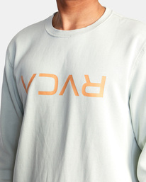 3 Flipped RVCA Crewneck Sweatshirt Green UVYFT00143 RVCA