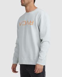 1 Flipped RVCA Crewneck Sweatshirt Green UVYFT00143 RVCA