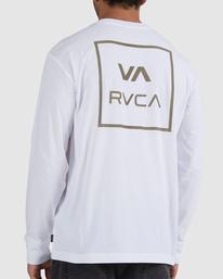 3 VA ATW LONG SLEEVE TEE White UVYZT00202 RVCA
