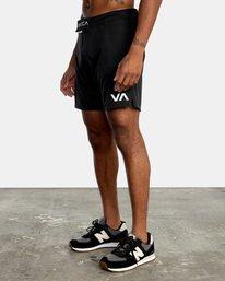 """5 FIGHT SCRAPPER 17"""" SHORT Black V2011RFS RVCA"""