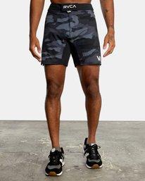 "0 Fight Scrapper Athletic Shorts 17"" Black V2011RFS RVCA"