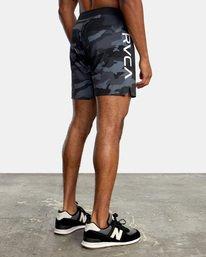 "4 Fight Scrapper Athletic Shorts 17"" Black V2011RFS RVCA"