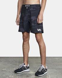 "2 Fight Scrapper Athletic Shorts 17"" Brown V2011RFS RVCA"