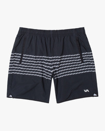 "0 YOGGER STRETCH ATHLETIC SHORTS 17"" Black V201TRYS RVCA"