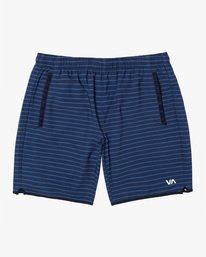 "0 YOGGER STRETCH recycled 17"" workout SHORT Blue V201TRYS RVCA"
