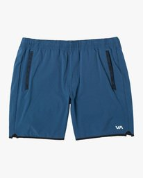 "0 YOGGER STRETCH ATHLETIC SHORTS 17"" Blue V201TRYS RVCA"