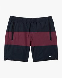 "0 YOGGER STRETCH ATHLETIC SHORTS 17"" Red V201TRYS RVCA"