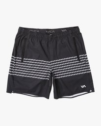 "0 YOGGER STRETCH recycled 17"" workout SHORT Black V201TRYS RVCA"
