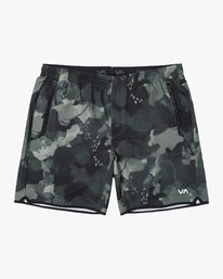 """0 YOGGER STRETCH recycled 17"""" workout SHORT Green V201TRYS RVCA"""