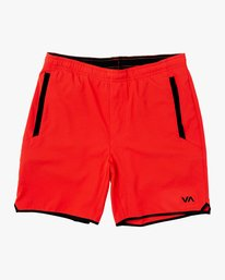 "0 Yogger Stretch 17"" Short Red V201TRYS RVCA"