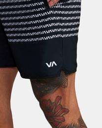 "4 YOGGER STRETCH ATHLETIC SHORTS 17"" Black V201TRYS RVCA"