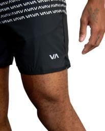 "8 YOGGER STRETCH ATHLETIC SHORTS 17"" Black V201TRYS RVCA"