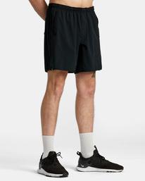 "7 YOGGER STRETCH ATHLETIC SHORTS 17"" Black V201TRYS RVCA"