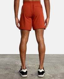 """1 YOGGER STRETCH recycled 17"""" workout SHORT Red V201TRYS RVCA"""