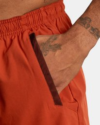 """6 YOGGER STRETCH recycled 17"""" workout SHORT Red V201TRYS RVCA"""