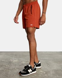 """3 YOGGER STRETCH recycled 17"""" workout SHORT Red V201TRYS RVCA"""