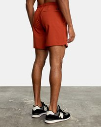 """4 YOGGER STRETCH recycled 17"""" workout SHORT Red V201TRYS RVCA"""