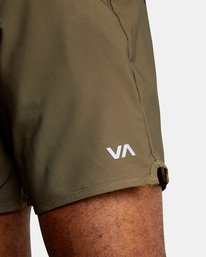 """2 YOGGER STRETCH recycled 17"""" workout SHORT Brown V201TRYS RVCA"""