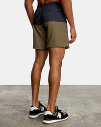 """4 YOGGER STRETCH recycled 17"""" workout SHORT Brown V201TRYS RVCA"""
