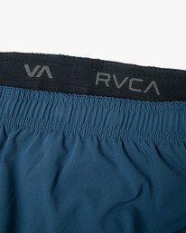 "13 YOGGER STRETCH recycled 17"" workout SHORT Blue V201TRYS RVCA"