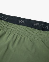 "11 YOGGER STRETCH ATHLETIC SHORTS 17"" Green V201TRYS RVCA"