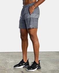 "3 YOGGER STRETCH recycled 17"" workout SHORT Black V201TRYS RVCA"