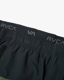 "12 YOGGER STRETCH ATHLETIC SHORTS 17"" Black V201TRYS RVCA"