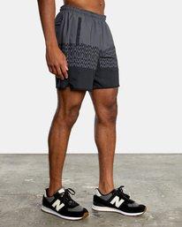 "7 YOGGER STRETCH recycled 17"" workout SHORT Black V201TRYS RVCA"