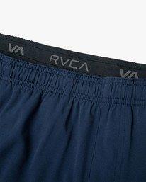 "14 YOGGER STRETCH recycled 17"" workout SHORT Blue V201TRYS RVCA"