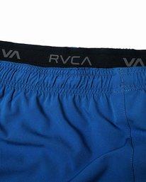 "10 YOGGER STRETCH ATHLETIC SHORTS 17"" Blue V201TRYS RVCA"