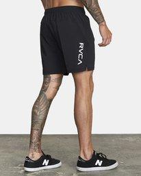 "5 Tech Strike Train Gym Shorts 16"" Black V2023RTS RVCA"